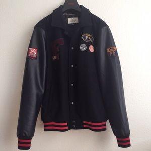 Oversized Wool Bomber Jacket